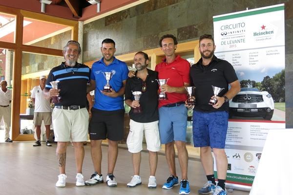 Ganadores del Circuito Infiniti levante 2015 en El Plantío