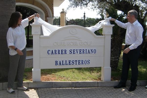 Inauguración de la calle Seve Ballesteros en Oliva Nova. Foto: OpenGolf.es