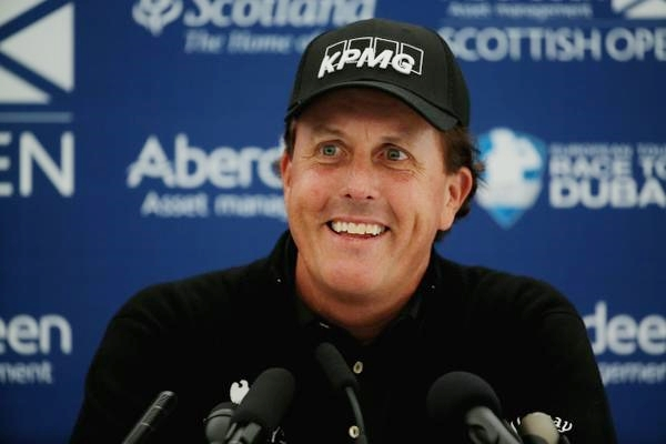 Phil Mickelson en Escocia Foto @EuropeanTour