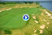 El US PGA visita por 3ª vez Whistling Straits. Vea su extraordinario campo a vista de pájaro (VÍDEO)