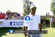 El español Álvaro Quirós en lo más alto del Top 10 de los grandes pegadores del Tour Europeo (VÍDEO)