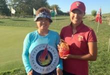 Todo queda en familia: La joven Annie Park logra la tarjeta del LPGA con su madre actuando de caddie