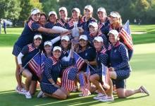 Para la historia: El equipo de EE.UU., una piña alrededor de la Copa Solheim