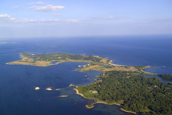 Vista aérea de Fishers Island