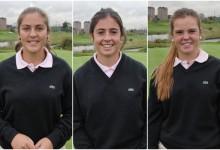 María Parra, Ana Peláez y Marta Pérez entre el equipo europeo de la Ping Junior Solheim Cup