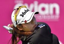 Hyang Lee mantiene el liderato en el Evian donde se prevé mal tiempo en la ronda final. Ciganda, 51º