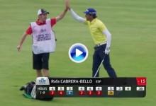 Fantástico eagle de Rafa Cabrera-Bello en el KLM Open que le sirve para liderar el torneo (VÍDEO)