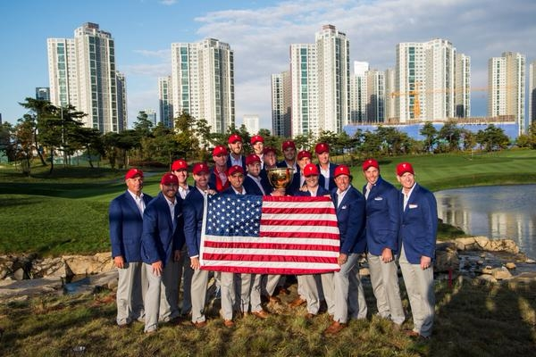 El equipo norteamericano se proclamó campeón de la última Presidents Cup en Seúl. Foto: @PGATOUR
