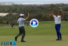 Anécdota y risas en Fiji: Matt Kuchar no necesitó patear, el viento embocó la bola por él (VÍDEO)