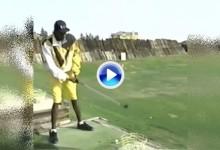 El día en que Mutombo cambió el basket por los palos de golf… Y terminó arrepintiéndose (VÍDEO)