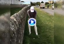 El australiano Nick Cullen imitó el famoso golpe de Jiménez en el muro del 17 de St. Andrews (VÍDEO)