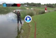 Colsaerts salvó el par ¡desde dentro del agua!, sin duda uno de los golpes de la semana (VÍDEO)