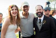 Obama se convierte, sin pretenderlo, en la estrella de una boda en Torrey Pines