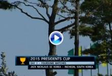 Presidents Cup (Corea): Resumen de los golpes destacados en su primera jornada (VÍDEO)