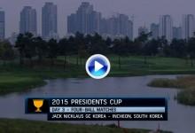 Presidents Cup (Corea): Resumen de los golpes destacados en su tercera jornada (VÍDEO)