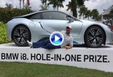 Un Hoyo en Uno que vale 140.000€, el precio de este exclusivo BMW i8 que se lleva Scott Brown (VÍDEO)