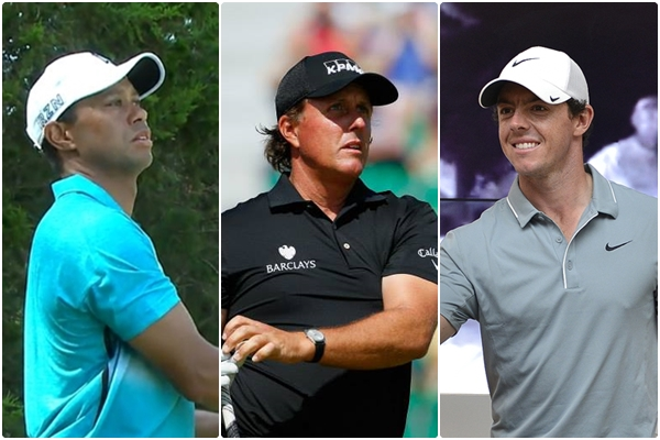 Tiger Woods, Phil Mickelson y Rory McIlroy