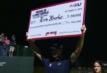 Tim Burke nuevo campeón del Long Drive Champ. El bombardero lanzó un misil de 394 ys. (Inc. VÍDEO)