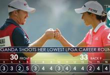 Carlota Ciganda firma su mejor tarjeta en el Tour LPGA (63) en un duelo antológico con Inbee Park