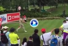 ¡Qué confianza! Peterson realizó un Happy Gilmore en plena ronda del CIMB Classic de Malasia (VÍDEO)