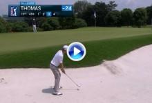 Este gran golpe desde el bunker del campeón Justin Thomas catalogado como el mejor del día (VÍDEO)