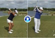 ¿Parecidos? Compare el swing de las dos mejores golfistas del planeta a cámara superlenta (VÍDEO)