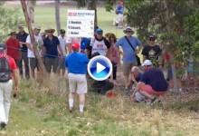 Bowditch le rompe la nariz a un aficionado durante el Australian Masters con un potente driver (VÍDEO)