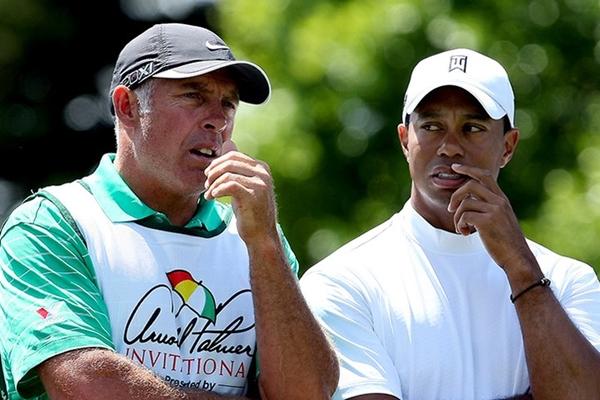 Tiger Woods y Steve Williams. Foto: @GolfTourNews