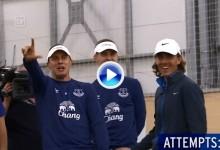 Tommy Fleetwood retó a los jugadores del Everton a un concurso de chippeo… Y no ganó (VÍDEO)