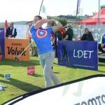 El holandés Bob de Boef causó sensación con su indumentaria de Capitán América