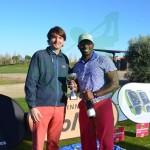 César Burguière, director de Lúmine Golf, con Maurice Allen