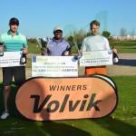 El podio de la temporada 2015, Maurice Allen (c), Dewald Lubbe (i) y Frederick Frost (d)