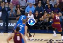 Así fue la caída de LeBron James sobre la esposa de Jason Day en la pista de basket ¡¡Brutal!! (VÍDEO)