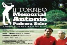 El campo de golf de Villamartín celebra el Torneo Benéfico II Memorial Antonio Pedrera Soler