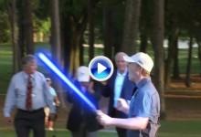 Spieth se transforma en Luke Skywalker y emboca un gran putt gracias al poder de la Fuerza (VÍDEO)
