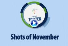 Estos son los 10 mejores golpes de noviembre en la LPGA, Circuito Femenino Estadounidense (VÍDEO)