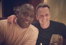 Luke Donald celebró su 38º cumpleaños en NY en compañía de Michael Jordan