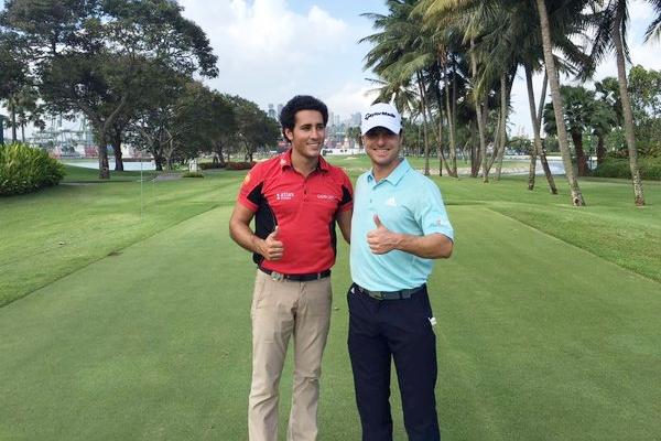 Carlos Pigem y Javi Colomo en el Sentosa Golf Club. Foto: @CarlosPigem