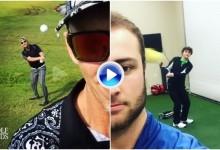 «Hay gente pa tó»: Se ponen delante de una bola y esperan a que su amigo haga un Flop Shot (VÍDEO)