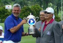 EurAsia Cup (Malasia): Así remató Europa su victoria. Vea lo mejor de los individuales (VÍDEO)