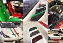 Ian Poulter vuelve a presumir de nuevo Ferrari. Presentó un exclusivo 458 Speciale Aperta
