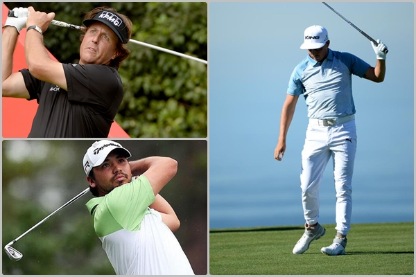 Phil Mickelson, Jason Day y Rickie Fowler