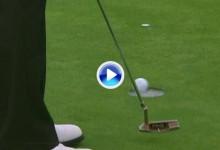 El Golf es duro: Hasta el más pintado falla putts de medio metro ¡vaya corbata de Oppenheim! (VÍDEO)