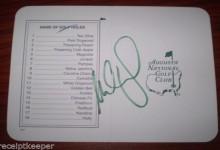 Subastan en Ebay una tarjeta del Augusta National firmada por Miley Cyrus por un total de 42 dólares