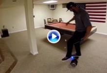 La moda de los hoverboard llega al mundo del golf de la mano de un circense Trick Shot (VÍDEO)