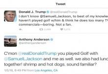 Trump asegura no conocer de nada a Samuel L. Jackson y éste le deja en evidencia con una foto