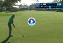 Blair estuvo cerca de forzar el PlayOff  en el Sony Open con esta madera 3 que voló 251 mts. (VÍDEO)