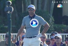 El Golf es duro: Scott, co-líder, firmó un cuádruple bogey en el 15. Envió dos bolas al agua (VÍDEO)