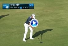 """¡Increible! El sorprendente golpe de Danny Willett o la bola que """"caminaba"""" sobre el agua (VÍDEO)"""
