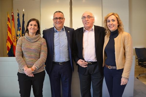 De izqda. a dcha. Ana María Arabid, Alberto Iglesias, Juan Manuel Asensi y Pilar Maciá